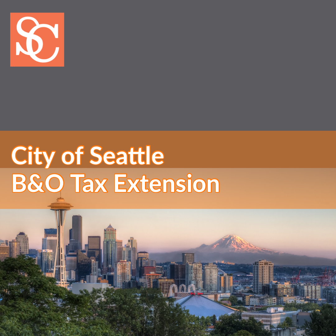 City of Seattle BandO (B&O) Business and Occupation Tax Extension in response to COVID-19 (coronavirus)