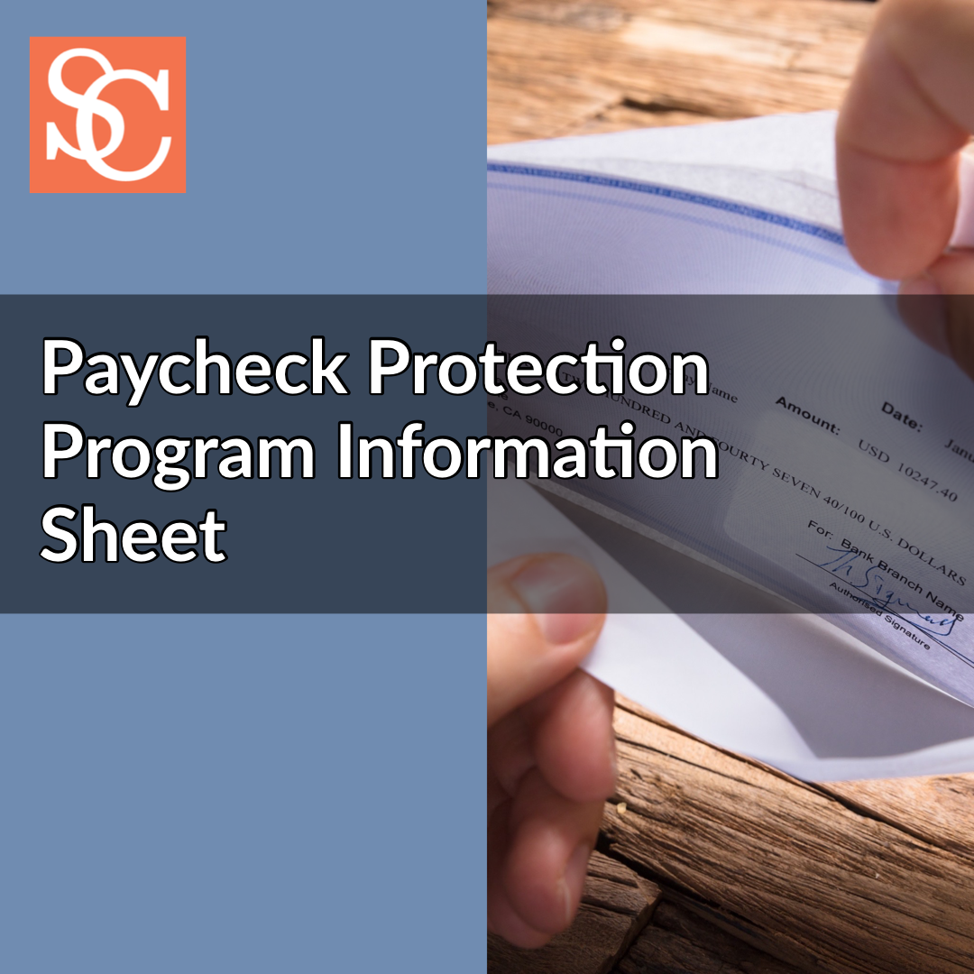 Paycheck Protection Program Information Sheet from U.S. Treasury in response to COVID-19 (coronavirus)