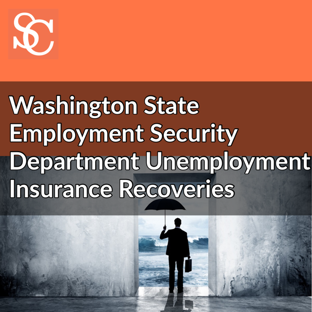 WA State Employment Security Department Unemployment Insurance Recoveries